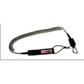 Leash Surfpistols Coiled Rouge et Transparent