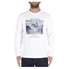 Tee-Shirt Rip-Curl Morning Of The Earth Ls Tee White/Blue