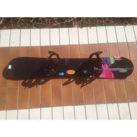 Occasion Snowboard Burton Luxe 150 cm + fixations Burton Oasis