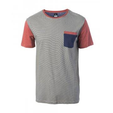 Tee-Shirt Manches Courtes Rip-Curl Original Stripes Gris 2017