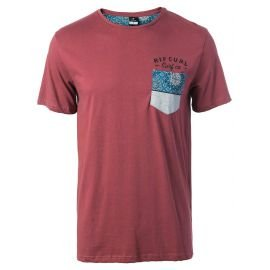 Tee-Shirt Manches Courtes Rip-Curl Eco Beach Pocket Rouge 2017
