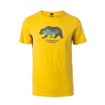 Tee-Shirt Manches Courtes Rip-Curl Cali Bear Jaune 2017