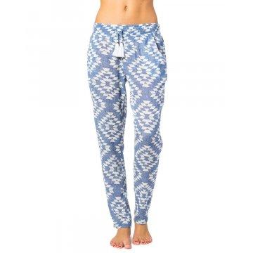 Pantalon Rip-Curl Del Sol Bleu/Blanc