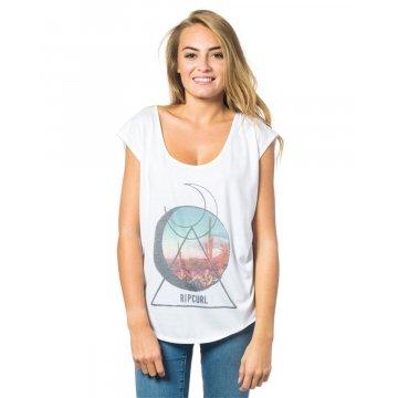 Tee Shirt Manches Courtes Rip-Curl Baleares Blanc