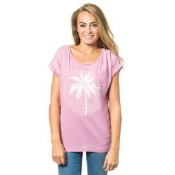 Tee Shirt Manches Courtes Rip-Curl Moon Island Violet