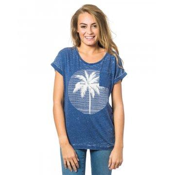 Tee Shirt Manches Courtes Rip-Curl Moon Island Bleu