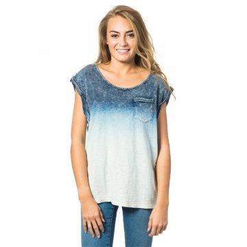 Tee Shirt Manches Courtes Rip-Curl Fade To Blue Blanc/Bleu