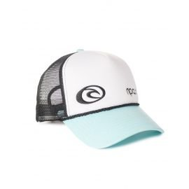 Casquette Rip-Curl Hotwire Trucka Blanche/Turquoise/Noire