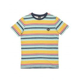 Tee-Shirt Manches Courtes Rip-Curl Striped Blanc/Gris