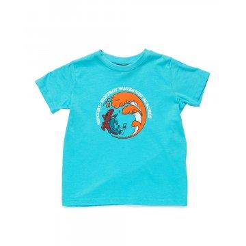 Tee-Shirt Manches Courtes Rip-Curl Banana Waves Bleu