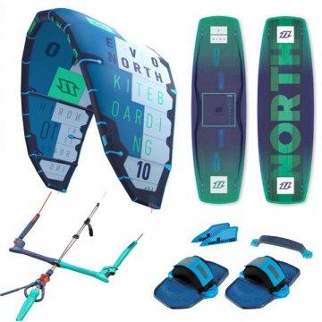Pack kitesurf North Evo + X-Ride 2017