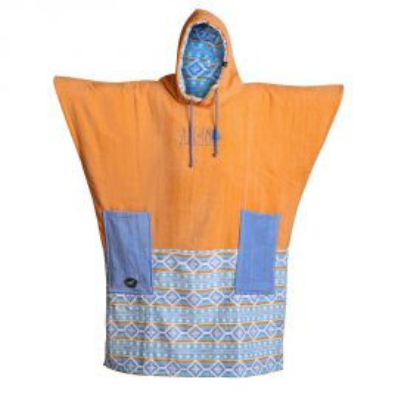 Poncho All In Bumpy Orange Indien