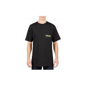 Tee-Shirt Manches Courtes Volcom Shred Head Noir