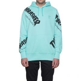 Sweat Thrasher TDS Allover Hood Mint Noir 2017