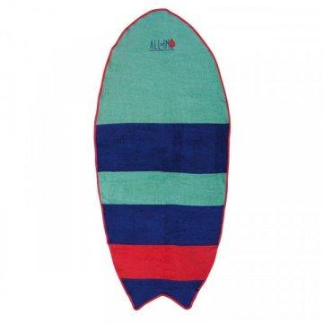 Serviette All-In Surf Towel Strip Verte/violette