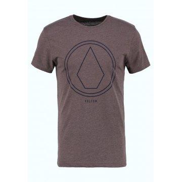 Volcom Pinline Stone Plum T-shirt marron Adulte 2017
