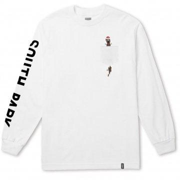 Huf X South Park Mr Hanky LS Pocket t-shirt blanc 2018