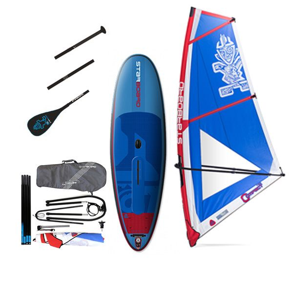 Pack water man Starboard Whopper deluxe gonflable 10'0'' x 35'' windSUP 2018 + gréement + pagaie
