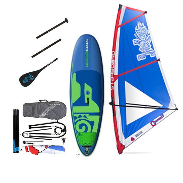 Pack water man Starboard Whopper zen gonflable 10'0'' x 35'' windSUP 2018 + gréement + pagaie