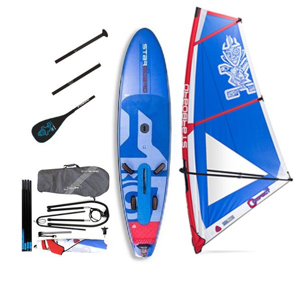 Pack Water Man Starboard gonflable Blend deluxe 11'2'' x 32'' windSUP 2018 + gréement + pagaie