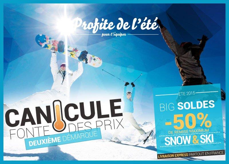 Acheter l'été du ski et du snow c'est jusqu'à -50% pour s'équiper !