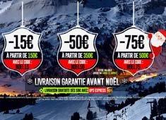 Les offres de la glisse de Noël : de -15€ à -75€