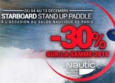 -30% sur Starboard Stand Up Paddle 2015 à l'occasion du Salon Nautique