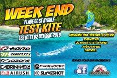 Week end test Kite freeride 01 et 02 octobre 2016