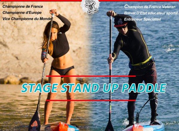 Stage de Stand Up Paddle avec Olivia Piana et Cyril Garbous les 6 et 7 mai à Agay