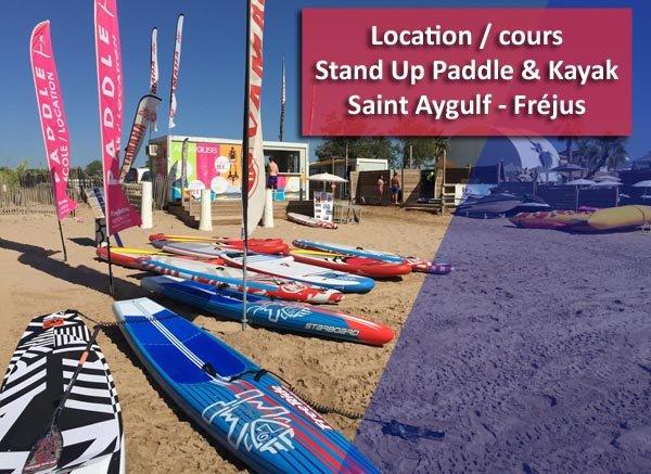 Cours et location de Stand Up Paddle SUP & Kayak Fréjus – Saint Aygulf