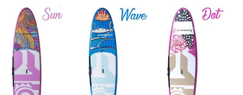 Starboard tikhine SUP sun wave dot 2018 3 modèles
