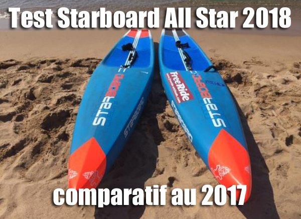 Test Starboard Allstar 2018 et comparatif à la 2017