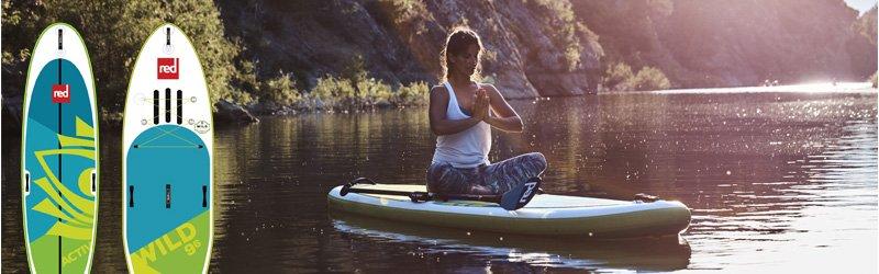 SUP yoga fitness rivière eau vive Red Paddle Co