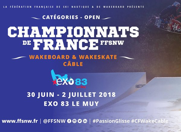 Championnats de France wakeboard câble 2018 – Exo 83 Le Muy