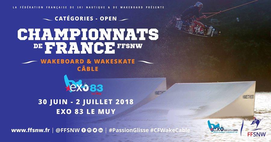 Exo 83 cable park le muy organise les championnats de france de wake