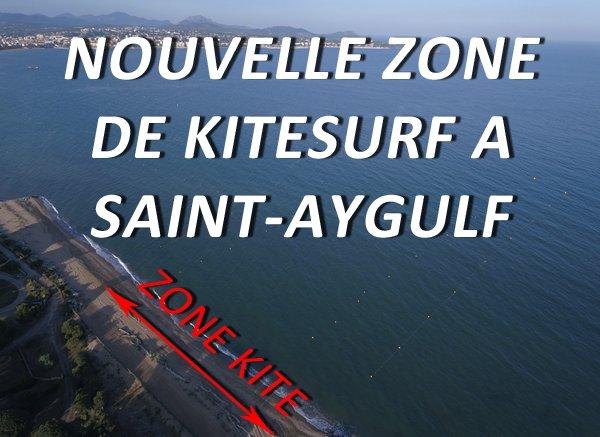 Nouvelle zone de kite à Saint-Aygulf