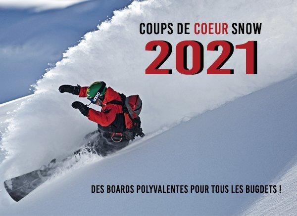 Nos coups de cœur snowboard 2021