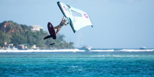 Slick Duotone Foil Wing Olivia Jenkins Fanatic Sky Wing Union Island JT Pro Center jump