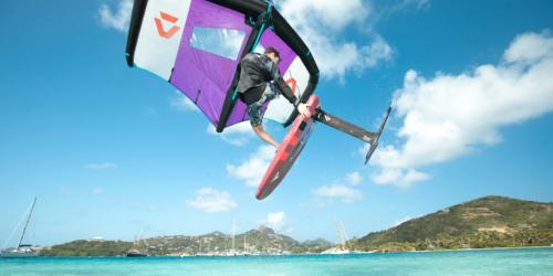 Slick Duotone Foil Wing Stefan Spiessberger Fanatic Sky Wing Union Island JT Pro Center grab