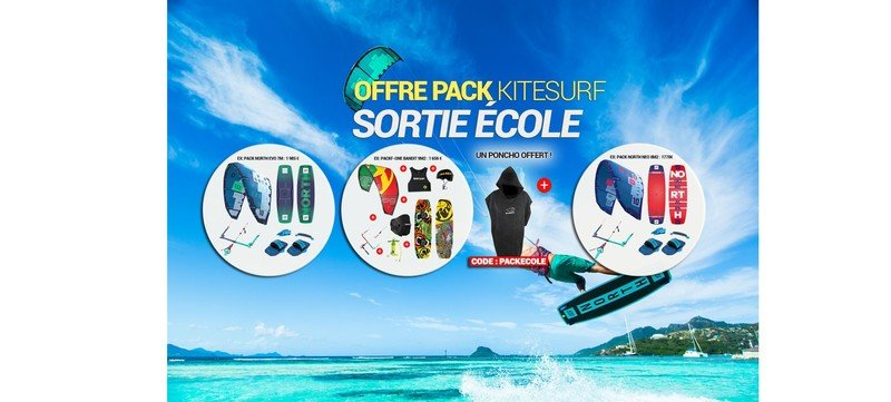Offre pack kite complet sortie école